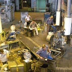 Glassblowers at work in the iittala factory