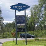 Nuutajärvi Glass Village Sign