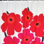 Marimekko Red Unikko Shower Curtain