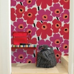 Marimekko Red Unikko Wallpaper